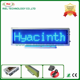 Wholesale Display Led Moving Sign - Scrolling LED Moving Sign Rechargeable Edit By PC Message Programmable Display Desk Board Blue Color 1024 LEDs Free shipping