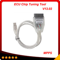 Wholesale Mpps Ecu K Can Flasher - SMPS MPPS K CAN V13.02 CAN Flasher Chip Tuning ECU Remap mpps v13 OBD2 Cable 10pcs lot free shipping