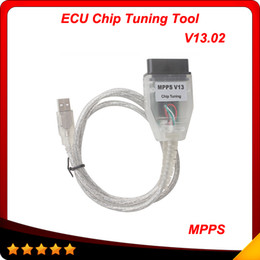 Wholesale Ecu Flasher Chip Tuning - SMPS MPPS K CAN V13.02 CAN Flasher Chip Tuning ECU Remap mpps v13 OBD2 Cable 10pcs lot free shipping