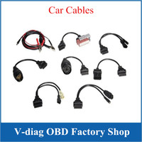Wholesale Obdii Professional Diagnostic - Full Set 8 TCS CDP Pro Car Cables OBD OBDII Diagnostic Connector For Multi-Brand Cars Professional Auto Cable Car Interface