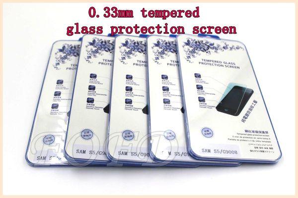 Qualitäts-Schirm-Schutz 0.33mm ausgeglichenes Glasschutz sceen für Samsung-Galaxie s3 s4 s5 DHL geben 30 PC / Los frei