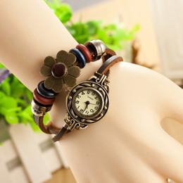 $enCountryForm.capitalKeyWord Canada - Factory Price New Retro Leather bracelet Big Crystal and Flower Wristwatches women quartz watch Free shipping