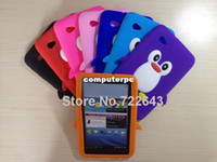"Wholesale Cute Galaxy Tablet Cases - 1 Piece x Cute 3D Penguin Soft Gel Silicone Case Cover Skin For Samsung Galaxy Tab 2 7.0"" Tablet P3100 P3110 P6200 Free Shipping"