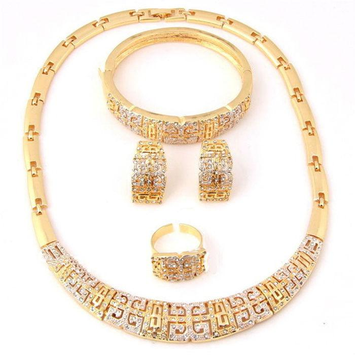 2018 Wholesale And Retail High Quality Jewelry Set Dubai African Mysterious Crystal Necklace 18k Gold Plated Jewelry Al301 From Thedesertoasis ...  sc 1 st  DHgate.com : gold plated jewelry sets - pezcame.com