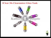 IClear 30s Clearomizer Dual Coil Tank Replaceable Coil Atomizer for E Cigarette Cig Electronic Cigarette ego t Bateria todas as cores Instock