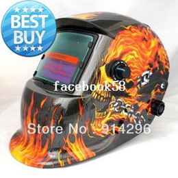 Wholesale Arc Auto - Flame skeleton Solar Auto Darkening Welding Helmet for ARC MAG MIG TIG[welding we are the best]