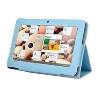 ingrosso allwinner a13 q88 compresse-Caso della copertura del cuoio di protezione di vendita calda 2014 con il basamento per 7 pollici Q88 Allwinner A13 Tablet PC Android multicolore