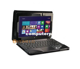 "Wholesale Keyboard Cover Skin Asus - Black Triple Leather Case With Keyboard Station Shell Cover Pouch for 10.1"" ASUS VivoTab TF600T Win8 Tablet+free shipping"