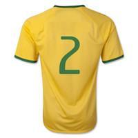 Wholesale Cheap Wholesale Online - Brazil Dani Alves 2 Home Football Soccer Jersey,Cheap Brazil Customized Soccer Jerseys Football Shirt Online Sale Store -yakuda 's store