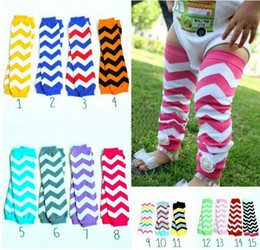 Wholesale chevron tights - SALE .15 COLORS OPTION .Baby Chevron Leg Warmer Baby Leg Warmers infant colorful leg warmer child socks Legging Tights . 5pairs 10pcs