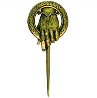 Wholesale A quality New Arrival Hot Selling Song of Ice and Fire Game of Thrones Hand Of The King Pin Brooch with retail bags