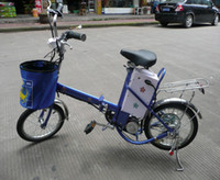 Wholesale 16 Aluminum Alloy Wheel - cheapest electric bicycle 240W motor   16 inches wheel foldable electric bicycle 24V 12Ah lead acid battery