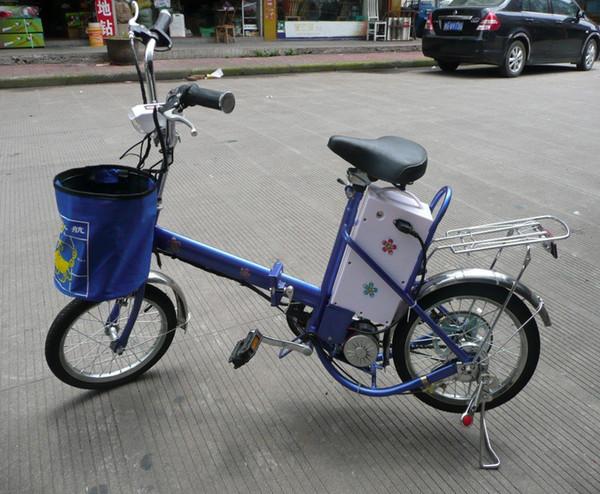 la bicicleta eléctrica más barata 240W motor / 16 pulgadas rueda la batería eléctrica de plomo 24V / 12Ah de la bicicleta eléctrica plegable