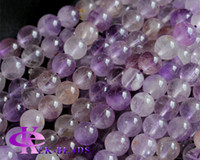 "Wholesale Super Melody Stone Bracelets - Discount Wholesale Genuine Natural Purple Super Seven Super 7 Round Loose Small Beads Melody Stone Fit Jewelry Necklace Bracelets 16"" 03643"
