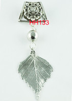 Wholesale Pendants For Scarf Necklaces - 2016 New Traditional Charm Flowers WISHCART Wholesale-2015 Hot Leaves Charms Pendant Sets for Scarf Jewelry Necklace Diy Findings Hh133