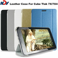 Wholesale Cube Tablet Cases - Wholesale Original 7 inch Cube U51GTW U51GT W Talk 7X TALK7X4 Tablet PC Smart Leather Case Multi Color Free shipping