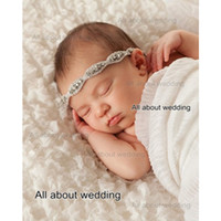 Wholesale Baby Headbands Crystal - Newborn Baby Headband Free Shipping Crystal Rhinestone Girl Headband Kids Spandex Flower Girl Hair Accessories Drop Ship