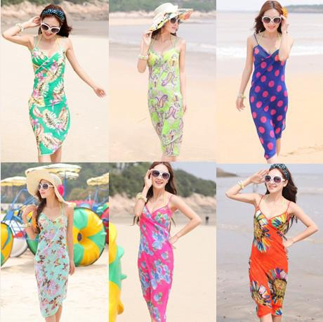 39233693b37aa 2019 Summer New Sexy Women Sarong Open Back Wrap Front Swimsuits Bikini  Cover Up Beach Skirt Dress Summer Beach Dress From Sex Lady, $231.16 |  DHgate.Com