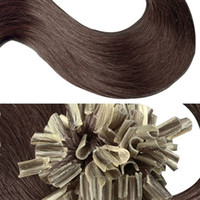 Wholesale Nail Tip Curly Hair Extensions - factory 100 Strands  pack Nail-tip Human Hair Extensions wave free shipping