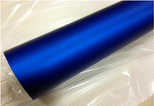 Wholesale High quality Matt Metallic Blue Vinyl For Car wrapping vehicle Graphics with bubble Free like 3m quality Size 1.52x20m  Roll (5x66ft