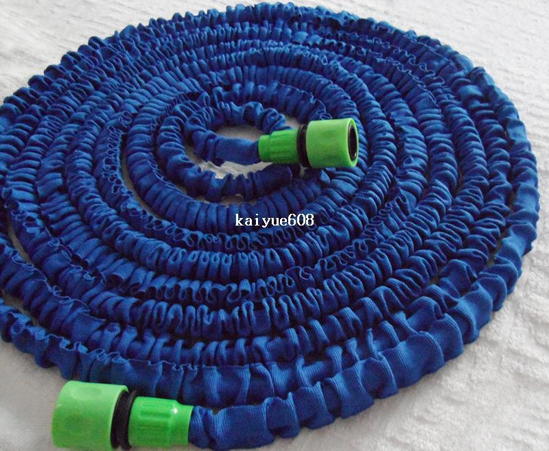 Free Shipping 100ft garden hose fast connector expandable water flexable blue hose