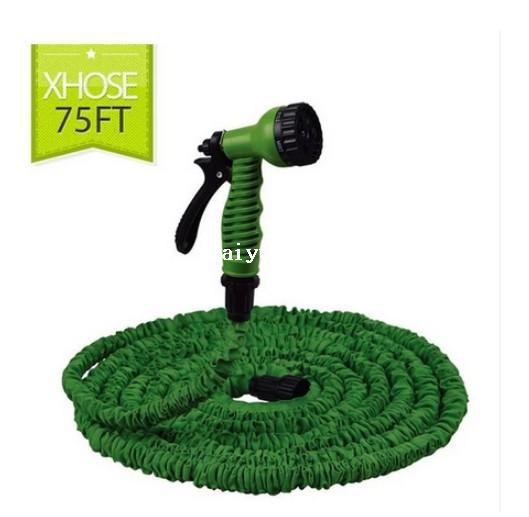 75FT Garden watering & irrigation Hose water pipes without spray gun expandable flexible car hose Garden hose & reels EU/US type