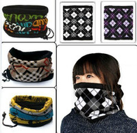 Wholesale Head Scarf Models - 2015 Hot Sale Printed 10pcs lot Mix Model & Hot Autumn Winter Thick Warm Ski Jacket Collars Head Outdoors Foulard Velveteen Unisex Scarf
