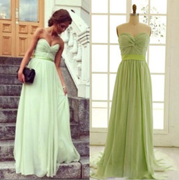 Wholesale Cocktail Long Dress For Bridesmaid - Sexy Mint Bridesmaid Dresses Sweetheart Chiffon 8th Party Dresses For Graduation Long Cheap Backless Homecoming Dress Cocktail Gowns
