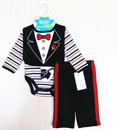 4pcs set Infant Romper sleeper socks pant bibs pajamas Bodysuits 12 sets/lot