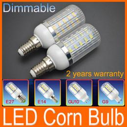 Wholesale G9 Led 11w - Dimmable 11W 36 leds SMD 5730 LED Corn Light Bulb E27 E14 LED Lamp 1020LM Warm White White lighting 110V 220V 360 degree corn bulbs Factory