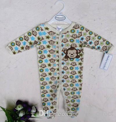 100% Bawełniane Body Romper Romper PJS Outfits Sleeper 24 Sztuk / partia