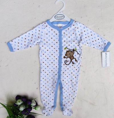100% katoen baby romper bodysuits pjs outfits slaper 24 stks / partij