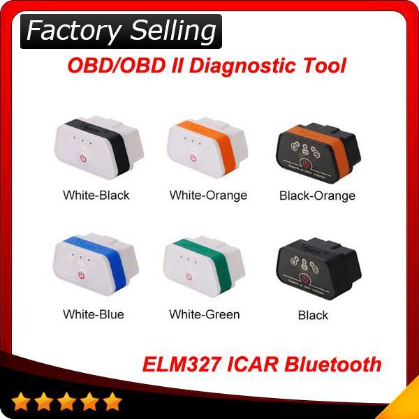 ¡2017 envío rápido original! Vgate icar 2 elm 327 bluetooth OBD2 Scanner Diagnostic Auto Tool elm327 icar 2 A + calidad