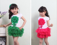 2018 Manica corta 3D Big Flower Baby Girl Tutu Dress Ball Gown Abiti per bambini Ricamo Fiore Bambini Dress Fit 2-6Age Bambino Wear GX314