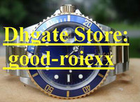 Wholesale Date Crystal - Mens Automatic Blue Ceramic Bezel Watch Men's Gold Date Watches Men Sport Dive 116613LB Wristwatches Box