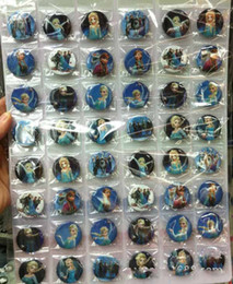 Wholesale Mario Pins - 5 Sheets 240 Pcs Popular Movie Badge Button Pins 3cm Party Gifts