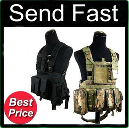 Wholesale Walkie Talkies Black - Outdoor Gear MOLLE Tactical Vest CS RRV amphibious vest vest (with a walkie-talkie pack) multicolor