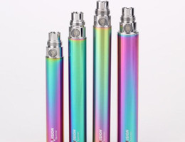 Wholesale Ego Vv Variable Voltage - Vision Spinner Rainbow Battery ego battery eGo C Twist 650mAh 900mAh 1100mAh 1300mAh variable voltage ego twist battery Electronic