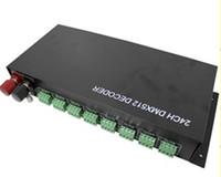 controlador dmx led venda por atacado-Frete Grátis 24 Canais 24CH DMX-512 Decoder Controlador DC 12 V-24 V para RGB LED Light Strip DIY