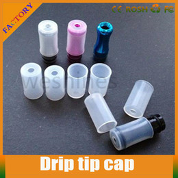 Wholesale Disposable E Cigarette Mouthpiece - mouthpiece Ecig Silicone Test Drip Tips Caps Disposable Atomizer Test Cap Cover for ego CE4 CE5 Clearomizer E Cigarette with factory price