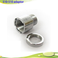 Wholesale Cheapest Ring Metal - 510-510 Adaptor Metal Ecig Connector 510 Ego Adapter with Ring in Cheapest Price DHL Free