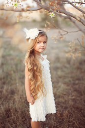 Wholesale Cheap Photo Props - White dress baby girls Girls Dress Cheap Princess Lace Dress Ruffle Baby Dress Birthday Outfit Photo Prop