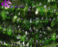 Desconto de atacado Natural Genuine Green Chrome Diopside Nugget Chip Loose Beads Free Form 3x8mm Fit Jóias Colar Pulseiras 16