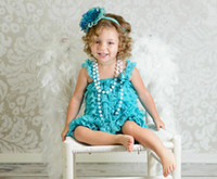 Wholesale China Cheap Baby Clothes - China Factory Wholesale Kids Clothes Cheap Baby Lace dress Teal Lace Girls Dress Flower Girls' Dresses