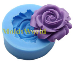 Wholesale Decorating Sets - Rose Flower Flexible Food Grade Silicone Mold Chocolate Cake Decorating Heat Safe Mould For Polymer Clay Craft
