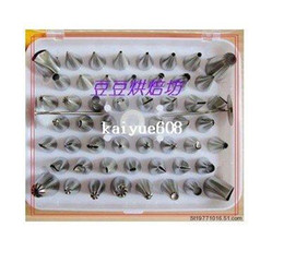 Wholesale Pastry Tips Cake Sugarcraft Decorating - 52 Icing Nozzles Pastry Tips Cake Decorating Sugarcraft