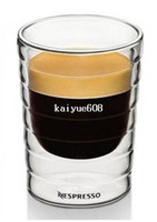 Wholesale Thermo Glass Cup - Free Shipping hand-blown,double-walled glass Nespresso Citiz Lungo Coffee Cup cups(150ml),set of 4,teacup,Thermo Glass
