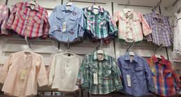 Muchachas del muchacho de la manga larga camisa de las camisas de vestir de la camisa de cottoNTops MIXED 24pcs / lot # 3483 desde fabricantes