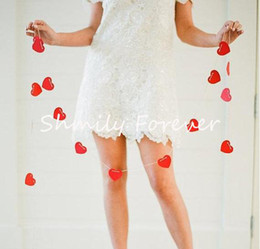 red heart decorations Canada - FREE SHIPPING NEW ARRIVAL 2 M LONG RED HEART GARLAND PARTY DECORATION BANNER WEDDING ENGAGEMENT SUPPLIES