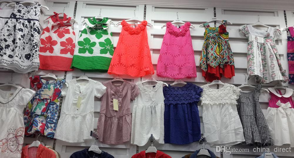 女の子の夏のドレスオーバーオールワンピースのドレススカート/ロット3484